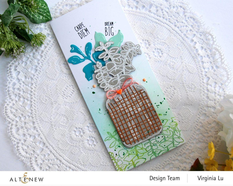 111120-Altenew-Eucalyptus Jar Stamp & Die & Mask Stencil Bundle-Burlap Texture Die (4)