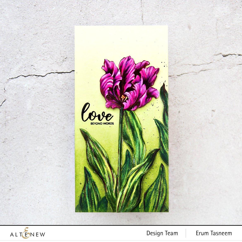 Altenew BAF Parrot Tulips Stamp Set | Erum Tasneem | @pr0digy0