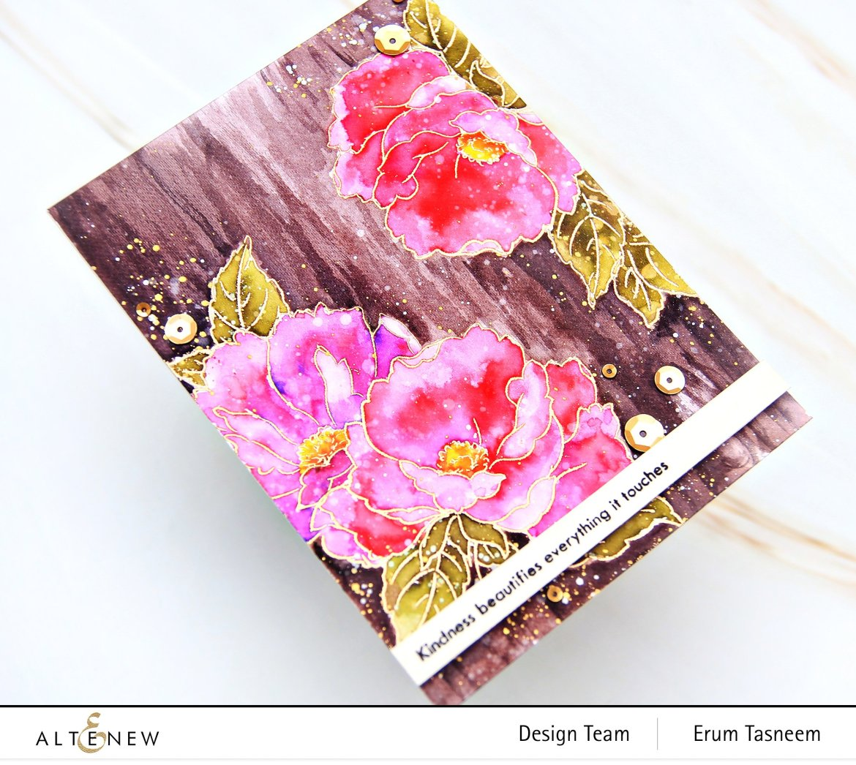 Altenew Airbrushed Flowers Stamp Set | Erum Tasneem | @pr0digy0