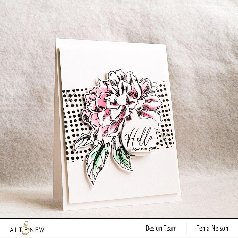 Gorgeous Floral Card with Altenew Vintage Garden Stamp Set