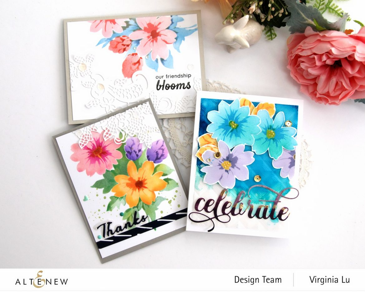 Altenew-Flower Bunch Simple Layering Stencil-Fancy Floral Lace Die-002 (2)