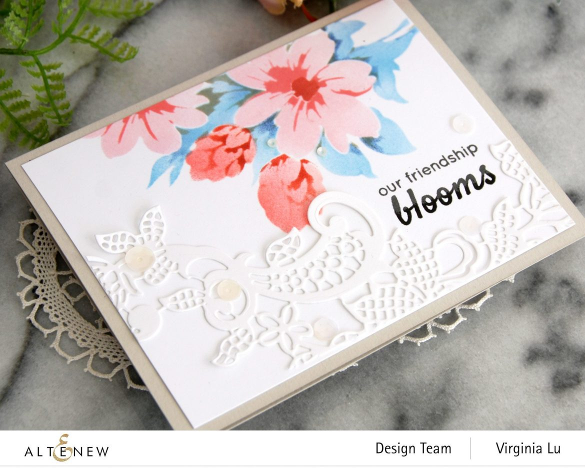 Altenew-Flower Bunch Simple Layering Stencil-Fancy Floral Lace Die-002