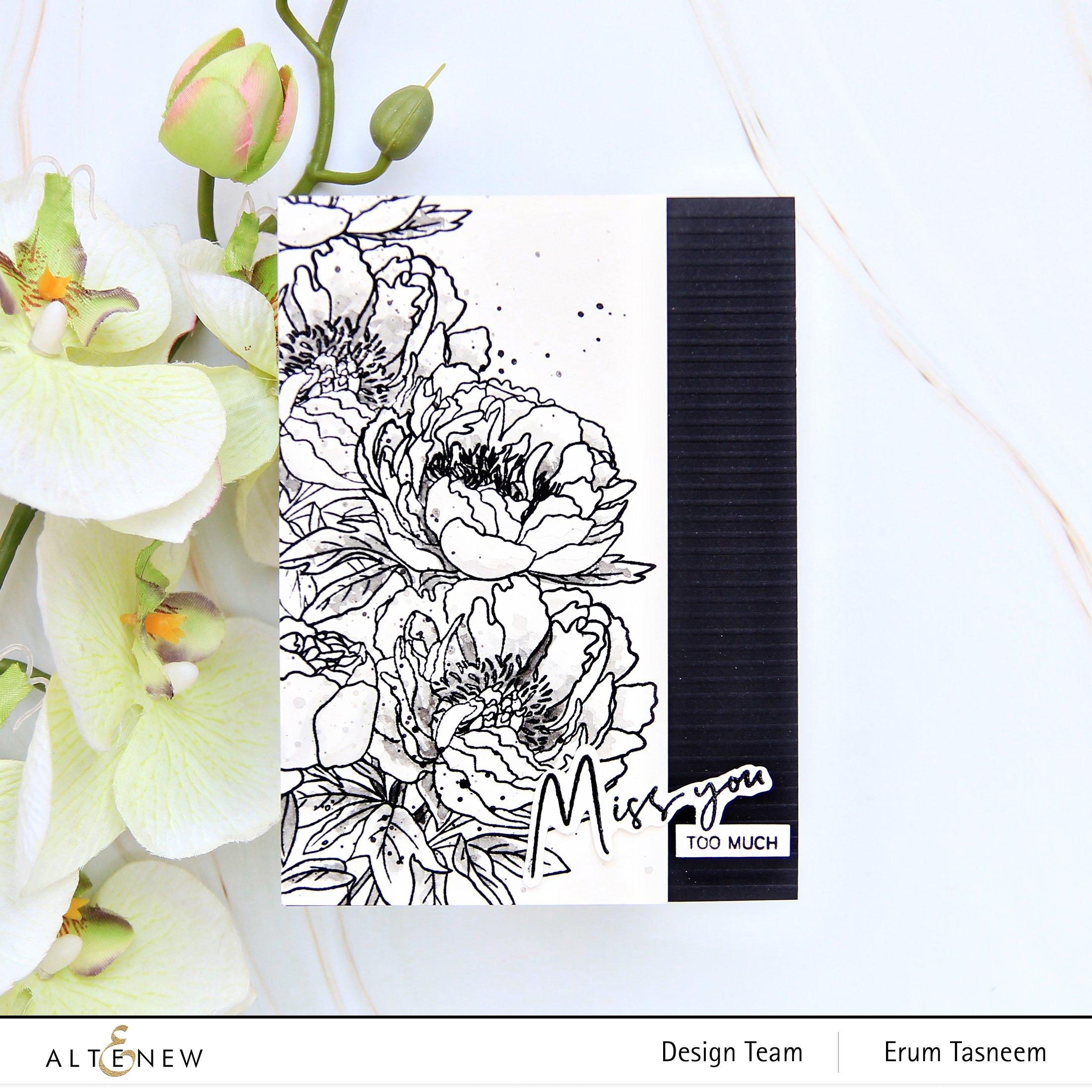 Paint-A-Flower: Coral Sunset Outline Stamp Set Release Blog Hop + Giveaway