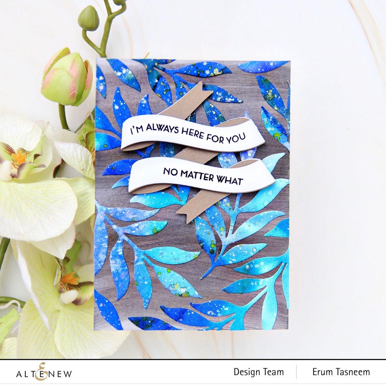 Altenew Decorative Swirls and 3D Banner Die Set Set | Erum Tasneem | @pr0digy0