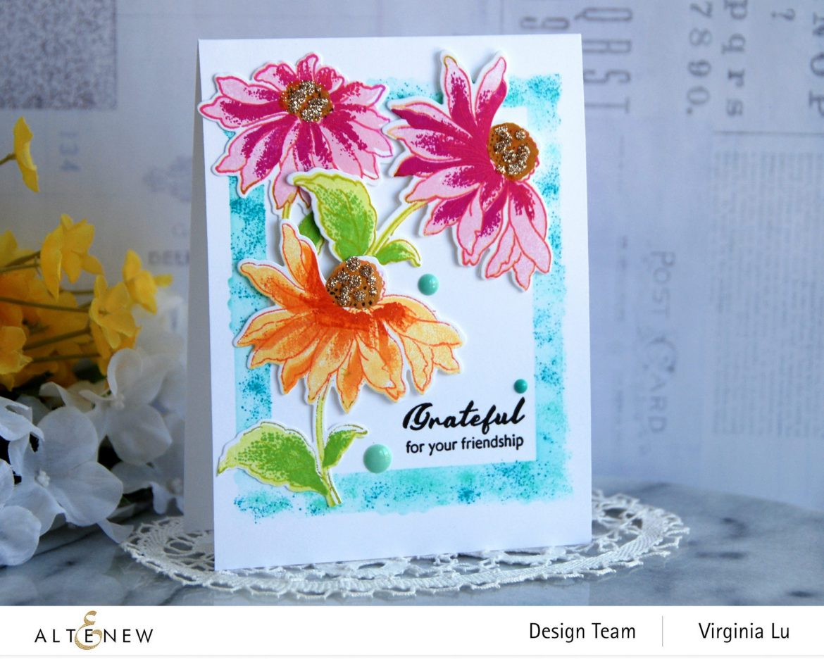 Altenew-BAF Coneflower-Simple Frame Mask Stencil
