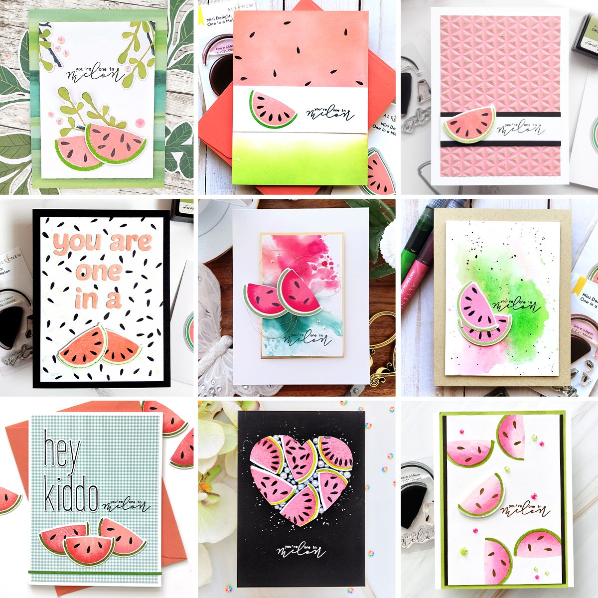 Yes!! A NEW Mini Delight: One in a Melon Stamp & Die Release   Instagram Hop + Giveaway!