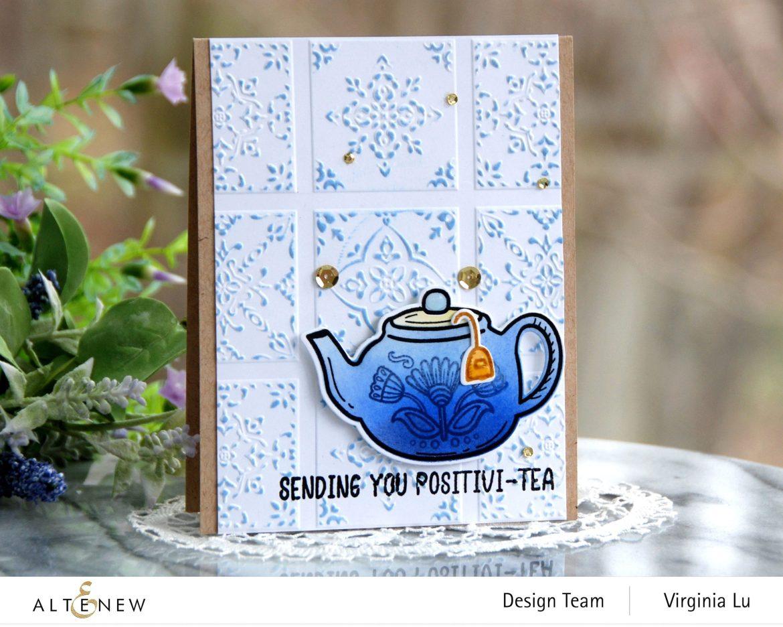 Altenew-Dreamy Tile 3D Embossing Folder-Tea For Two Stamp & Die Bundle