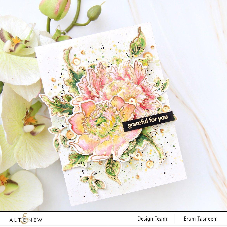 Altenew Majestic Bouquet Stamp Set | Erum Tasneem | @pr0digy0