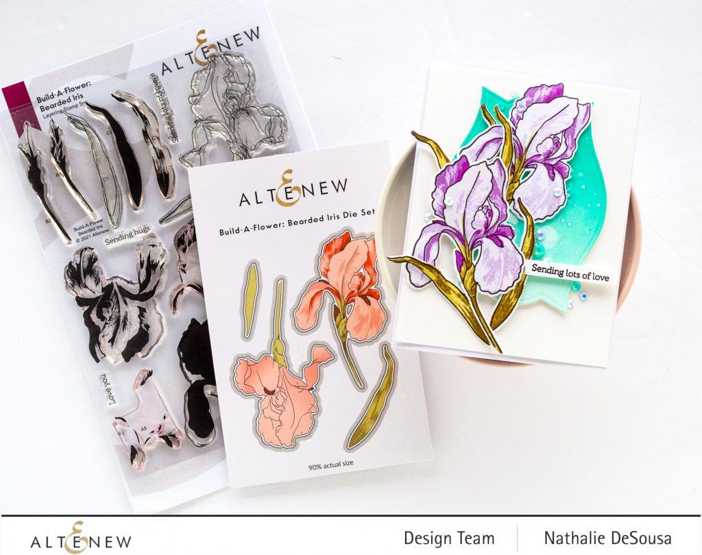 @altenew_Build-A-Flower BEARDED IRIS by Nathalie DeSousa