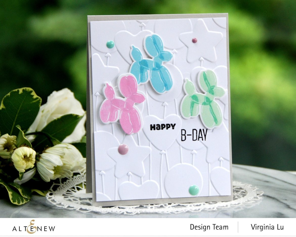 Altenew-MD Happy Birthday-Bunches of Balloons 3D Embossing Folder