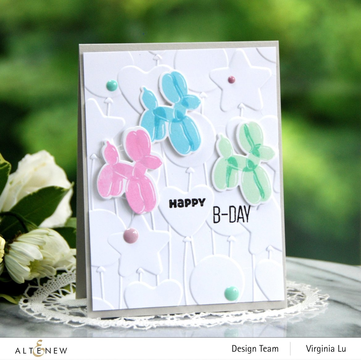 Altenew-MD Happy Birthday-Bunches of Balloons 3D Embossing Folder -001