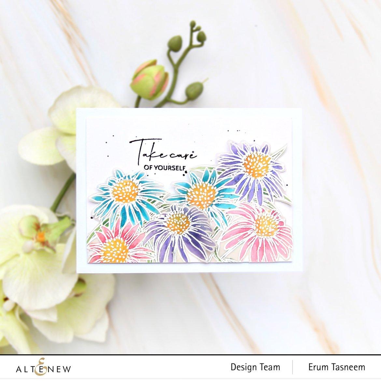 Altenew White Swan Echinacea Stamp Set | Erum Tasneem | @pr0digy0