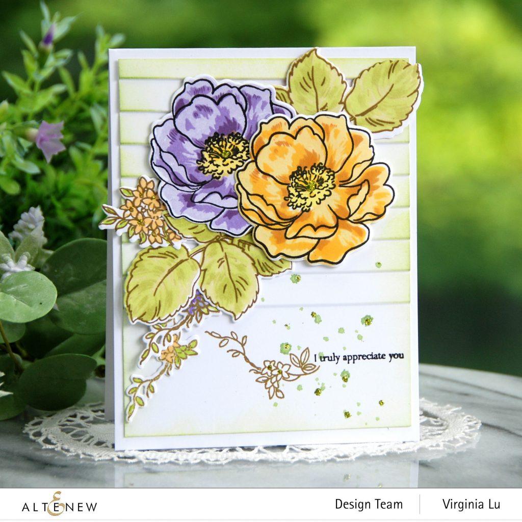 Altenew-BAF Wild Rose-Window Slats 3D Embossing Folder
