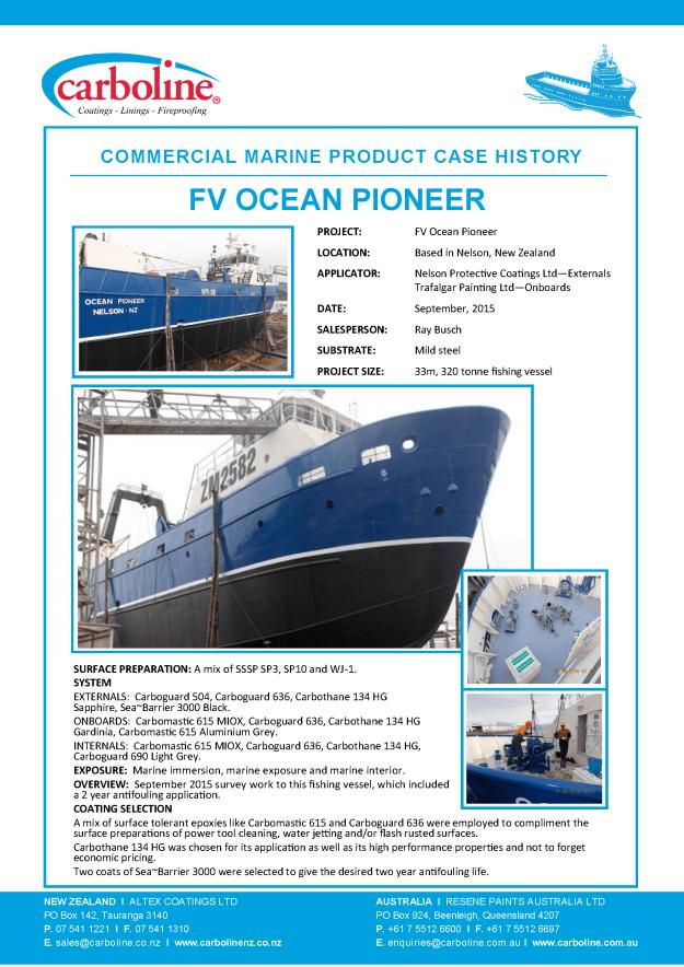 FV Ocean Pioneer - Sept 2015