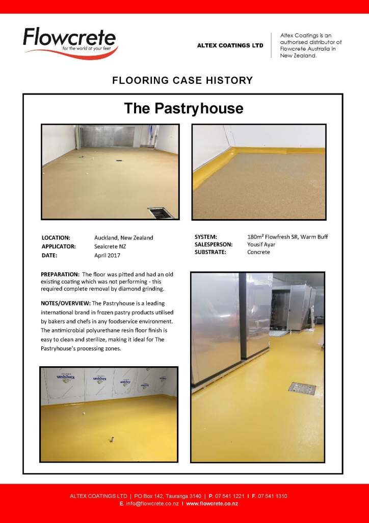 The pastryhouse altex coatings for Altex decoration ltd