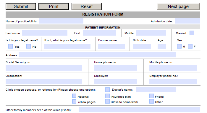 fillable forms in word