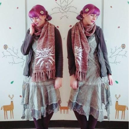 ETHEREAL LOOK: Katrin mixes faerie fashion with Mori Kei.