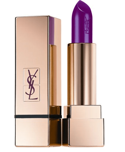 YSL purple lipstick