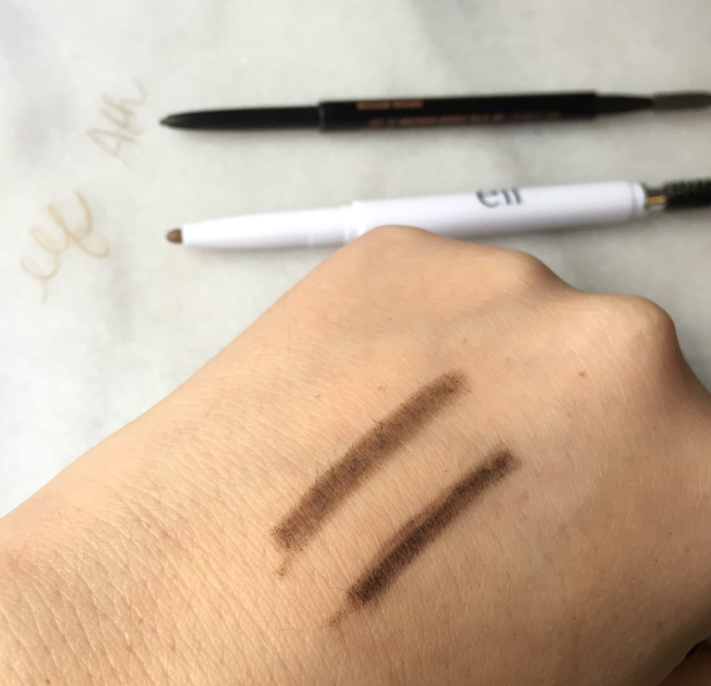 ELF vs ABH Brow Wiz brow swatch