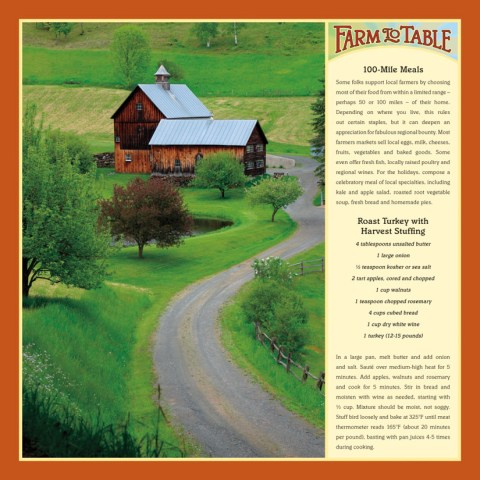 Farm to Table 2014 wall calendar