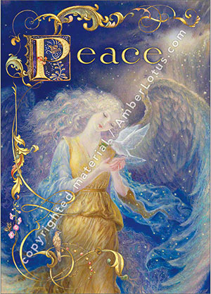 Peace Angel greeting card by Kinuko Y. Craft. Click image for more.