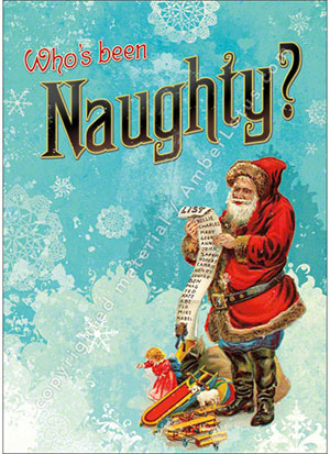 Who's Been Naughty? greeting card