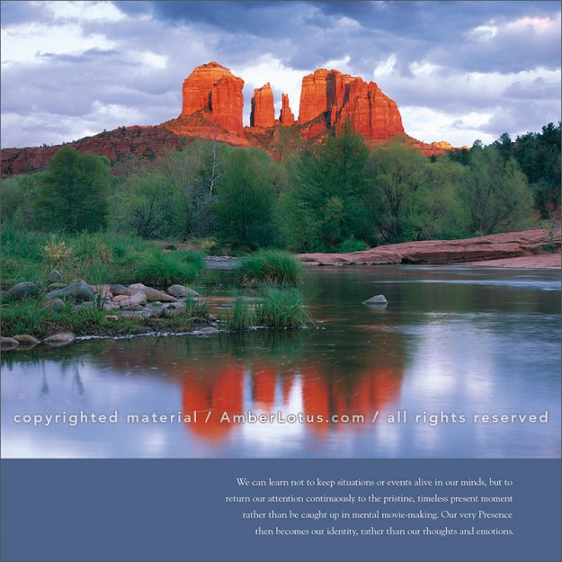 Image from A New Earth 2017 wall calendar. Cathedral Rock reflected in Oak Creek at Red Rock Crossing, Arizona © Tim Fitzharris. Click image for more info.