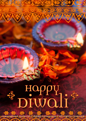 Diwali greeting card by Amber Lotus