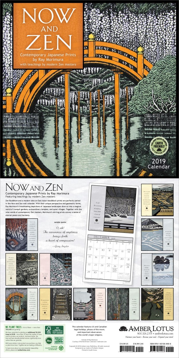 Now and Zen 2019 wall calendar