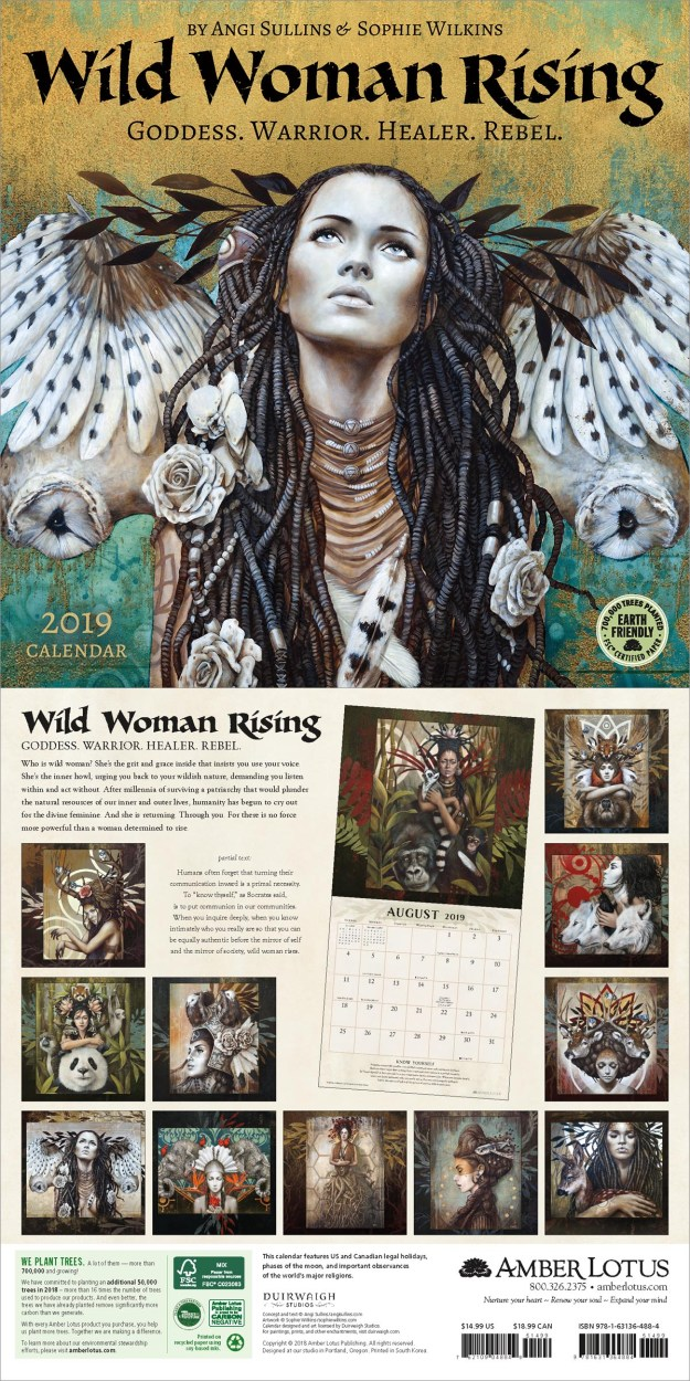 Wild Woman Rising 2019 wall calendar