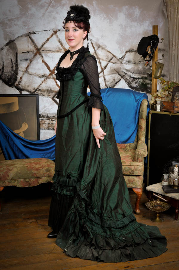 1880 bustle gown