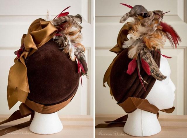 Natural Form 1870s Bonnet