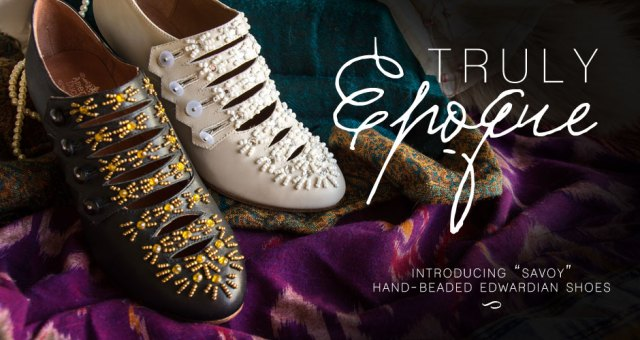 Savoy Beaded Edwardian Shoes by American Duchess