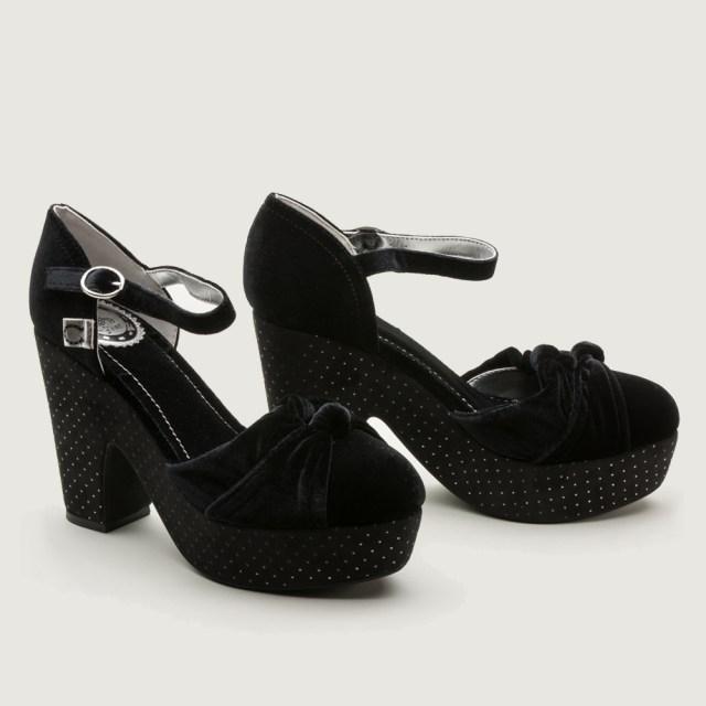 "Miss L Fire ""Lila"" 1940s Pinup Girl Platform Shoes - $120 - RoyalVintageShoes.com"
