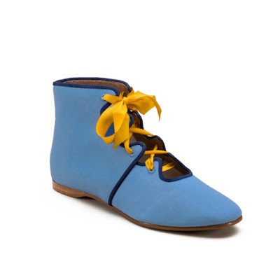 Manchester Regency Boots in blue by American Duchess