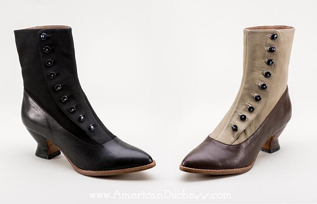 American Duchess Manhattan Button Boots