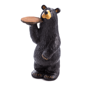 Black Bear Waiter With Tray
