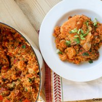Mardi Gras: Alligator Jambalaya With Shrimp and Chicken