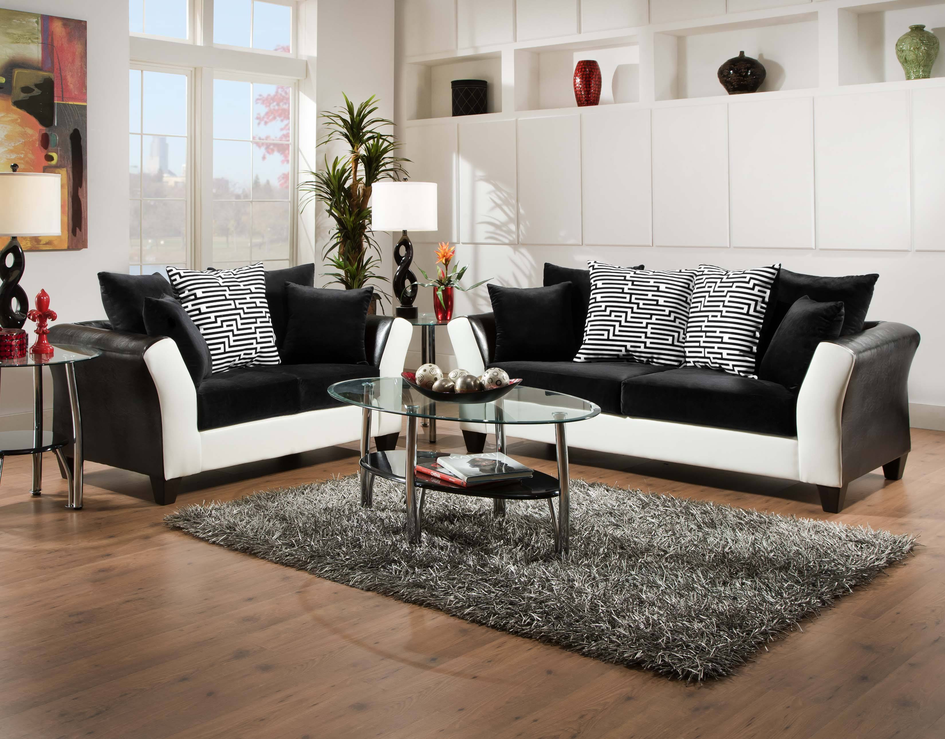 black sofa white furniture cushions and set best of with