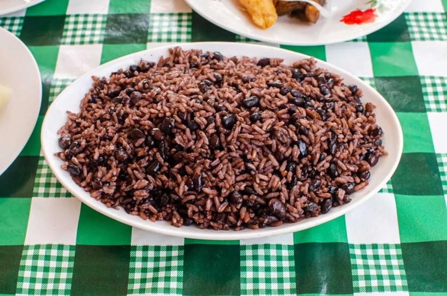 Congri Cuban Rice and beans dish
