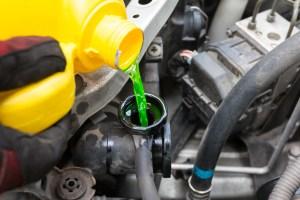 Green engine coolant.
