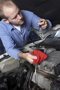 checking your engine oil dipstick