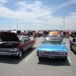 Cars on display at the Pier - Cruisin' Ocean City 2017