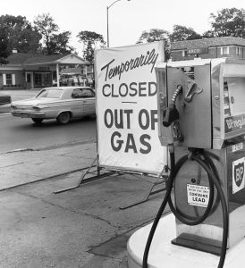 gas shortage of the 60s