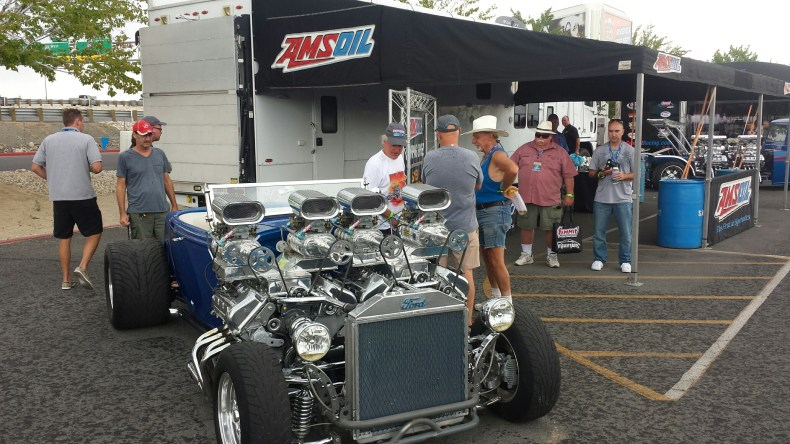 crazy duel egine quad blower ford hot rod