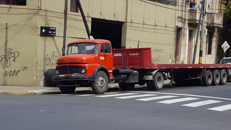 south american diesel semi with trailer