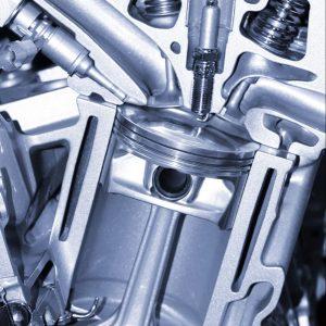 cylinder head internal cutaway view
