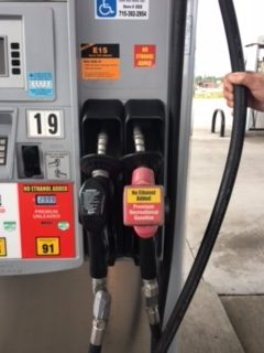 gas station pump ethanol
