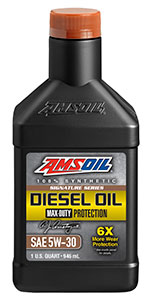 AMSOIL diesel oil. conventional vs. synthetic oil