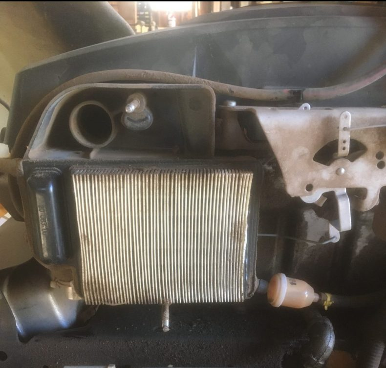 Lawnmower air filter.